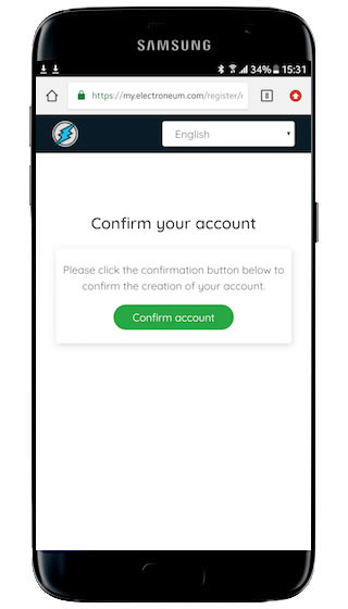 mine electroneum on mobile phone