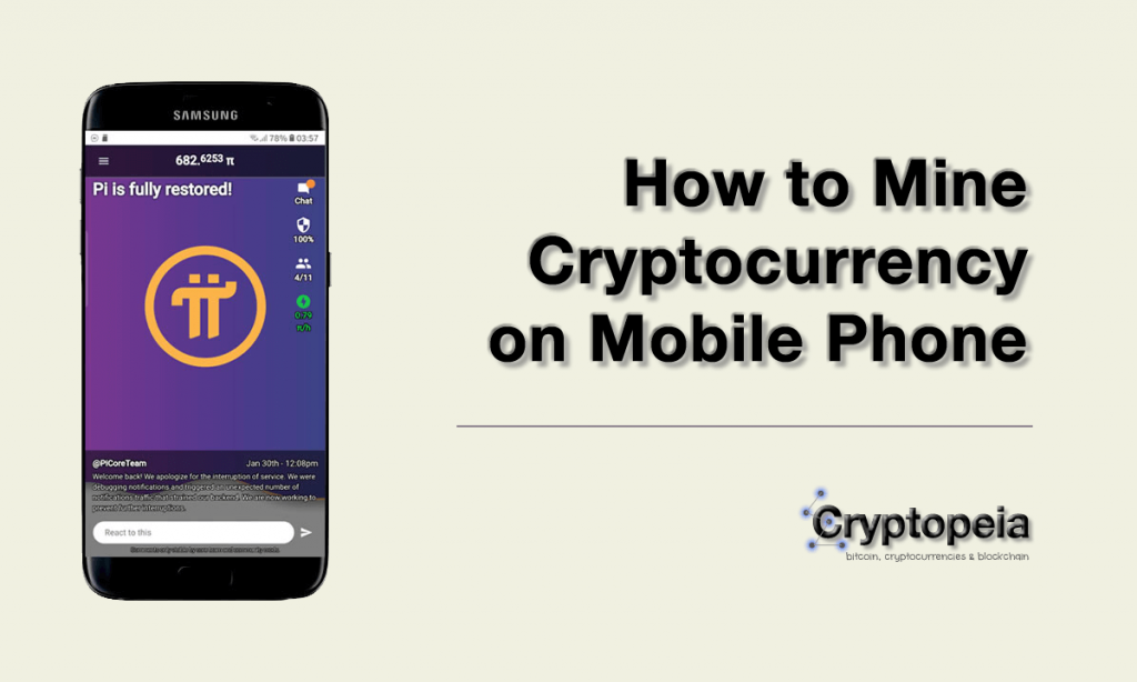 mine cryptocurrency on mobile phone