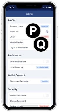blockchain app profile