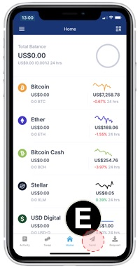 send bitcoin iOS