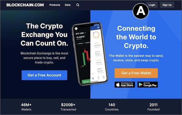 login to blockchain web wallet