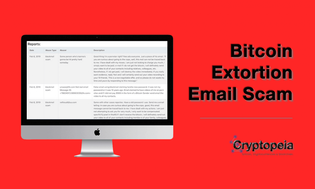 bitcoin extortion email scam