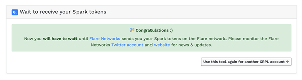 xrp spark tokens