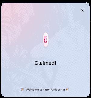 how to claim uni